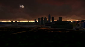Twilight in the city footage animation. Scenes of an evening in a big city full hd footage stock video