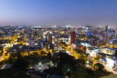 Twilight in the city of Lima Royalty Free Stock Photography