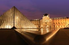 Twilight cityscape in Paris Stock Photos