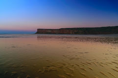Twilight Cliff at Saltburn by the sea, North Yorkshire Stock Photos