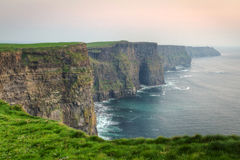 Twilight at Cliffs of Moher Royalty Free Stock Photography