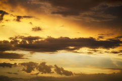 Twilight cloud formation Royalty Free Stock Images