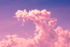 Twilight cloud on magenta sky Royalty Free Stock Photo