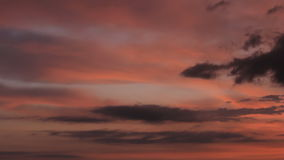 Twilight clouds colours stock footage