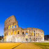 Twilight of Colosseum the landmark of Rome, Italy Stock Image