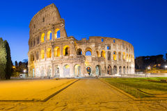 Twilight of Colosseum the landmark of Rome, Italy Royalty Free Stock Image