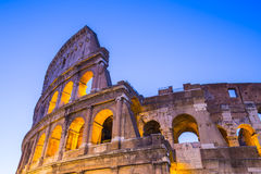 Twilight of Colosseum the landmark of Rome, Italy Royalty Free Stock Photos