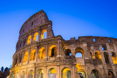 Twilight of Colosseum the landmark of Rome, Italy Royalty Free Stock Images
