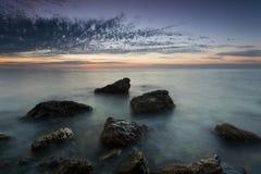 Twilight on the Cossack Bay Stock Photography
