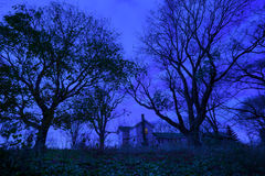 Twilight Country House Stock Photography