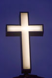 Twilight Cross. Cross on Church By the Sea Madeira Beach FL Royalty Free Stock Photos
