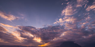 Twilight dawn cloudscape Royalty Free Stock Photography