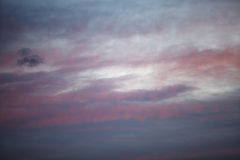 Twilight  dawn sky with clouds nature Stock Photos