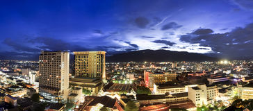 Twilight at downtown Chiangmai Thailand Stock Image