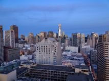 Twilight in downtown San Francisco stock photo