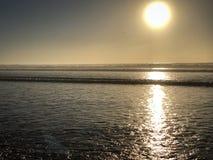 Twilight dusk on tropical holiday, Agadir stock photography