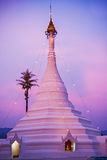 Twilight at the famous temple Stock Photography
