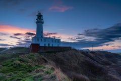 Twilight at Flamborough Head Lighthouse Stock Photos