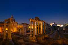 Twilight at the Forum Romanum Royalty Free Stock Images