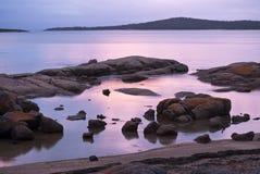 Twilight at Freycinet. Soft pink and mauve twilight shades at Freycinet National Park, Tasmania Royalty Free Stock Images