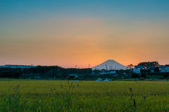Twilight Fuji-san Royalty Free Stock Image