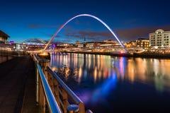 Twilight at Gateshead Millennium Bridge Stock Images