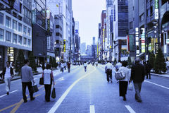Twilight Ginza Stock Images