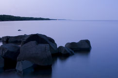 Twilight, Glass Water, and Stone Stock Photography