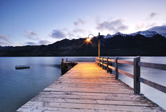 Twilight at Glenorchy jetty, Queenstown Royalty Free Stock Photos