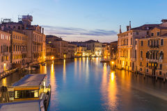Twilight of Grand Canal in Venice, Italy Stock Photography