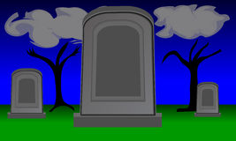 Twilight Gravestones Royalty Free Stock Images