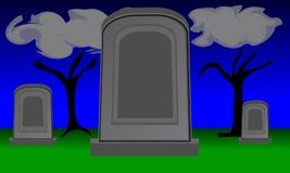 Twilight Gravestones Royalty Free Stock Images