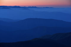 Twilight, Great Smoky Mountains Stock Images