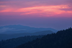 Twilight, Great Smoky Mountains Royalty Free Stock Photography
