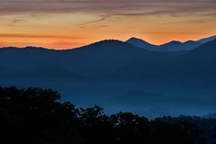 Twilight, Great Smoky Mountains Stock Image