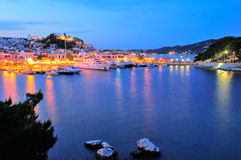 Twilight in Greece Royalty Free Stock Image