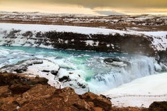 Twilight Gullfoss Royalty Free Stock Photos