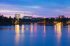 Twilight in Helsinki Stock Photo