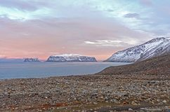 Twilight in the High Arctic Stock Photo