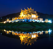 Twilight at Ho Kham Luang, Thailand Stock Photo