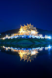Twilight at Ho Kham Luang, Thailand Royalty Free Stock Image