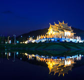 Twilight at Ho Kham Luang, Thailand Royalty Free Stock Photos