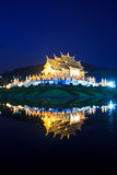 Twilight at Ho Kham Luang, Thailand Royalty Free Stock Photography