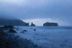 Twilight hour at Mostairos coast, Azores, Portugal Stock Photos