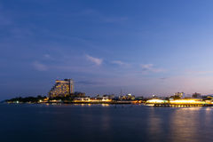 Twilight Hua Hin city Stock Images
