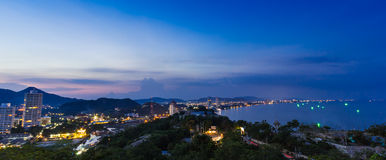 Twilight at huahin beach Royalty Free Stock Photography