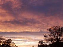Twilight hues. Weather, sunset, georgia royalty free stock images