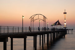 Twilight Jetty Scene. A view of Brighton Jetty, South Australia at twilight stock photography