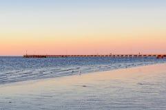 Twilight - Kingston SE. Twilight at the pier of Kingston SE - SA, Australia Stock Image