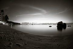 Twilight in Koh Tao, Thailand. Long exposure Stock Photography
